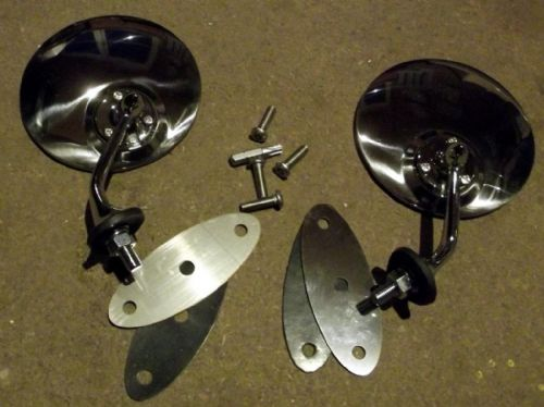 Door mirror set, JASS Performance Vintage style, Mazda MX-5 mk1, mk2 & mk2.5, new
